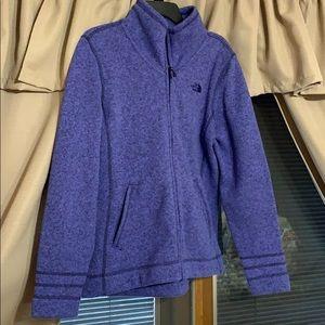 The North Face zip up fleece EUC
